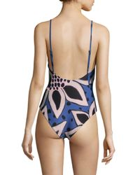 Mara Hoffman | Blue One-piece Tanya Swimsuit | Lyst