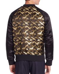 Ovadia And Sons - Black Souvenir Bomber Jacket for Men - Lyst