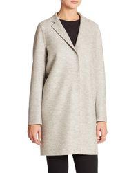 Harris Wharf London Gray Wool Cocoon Coat