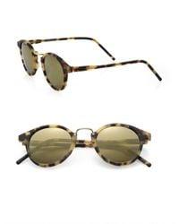 Kyme - Metallic Men's Frank 46mm Round Monel Bridge Sunglasses - Brown for Men - Lyst
