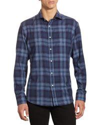 Ralph Lauren | Blue Purple Label Aston Slim-fit Tonal Plaid Button-down Shirt for Men | Lyst