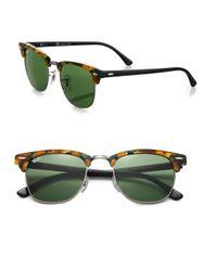 Ray-Ban - Brown Orginal Clubmaster Sunglasses - Lyst