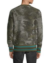 Diesel Black Gold - Green Dbg Camo Knit Sweater for Men - Lyst
