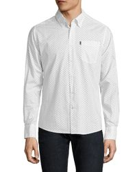Barbour White Curtis Regular-fit Button-down Shirt for men