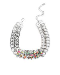 DANNIJO - Metallic Kamali Beaded Safety Pin Necklace - Lyst