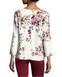 ESCADA - Multicolor Nidarya Floral Print Top - Lyst