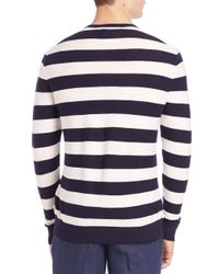 Polo Ralph Lauren | Blue Cashmere Blend Striped Tee for Men | Lyst