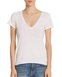 Feel The Piece - White Noemie Cotton V-neck Tee - Lyst