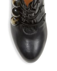 Christian Louboutin | Black Bootoni Ml 100 Leather Booties | Lyst