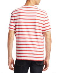 Alexander Wang - Red Striped Cotton Tee for Men - Lyst