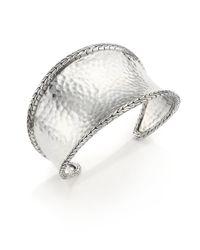 John Hardy - Metallic Classic Chain Hammered Sterling Silver Cuff Bracelet - Lyst