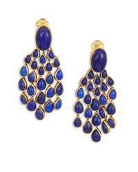 Aurelie Bidermann - Blue Women's Lapis Lazui & 18k Goldplated Chandelier Earrings - Lapis - Lyst