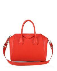 Givenchy - Red Antigona Small Leather Satchel - Lyst