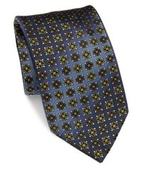 Brioni - Blue Printed Silk Tie for Men - Lyst
