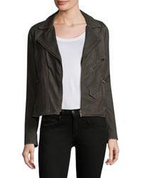 June - Black Vintage Leather Jacket - Lyst