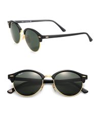 Ray-Ban - Black 51mm Round Clubmaster Sunglasses - Lyst