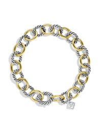 David Yurman - Metallic Oval Large Link Bracelet With Gold - Lyst