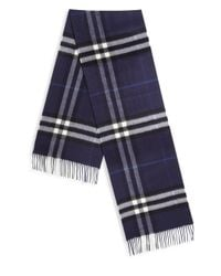 Burberry - Blue 'giant Icon 168' Scarf for Men - Lyst