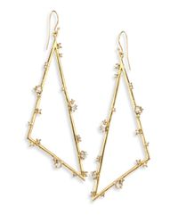 Alexis Bittar - Metallic Elements Crystal Triangle Earrings - Lyst