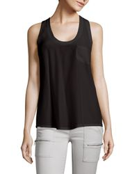 Joie - Black Alicia Silk Racerback Tank Top - Lyst