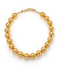 Kenneth Jay Lane - Metallic Beaded Strand Necklace - Lyst