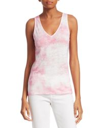 Majestic Filatures Multicolor Tie Dyed Linen Tank Top
