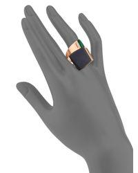Roberto Coin - Metallic Prive Diamond, Black Jade & Malachite Bypass Ring - Lyst
