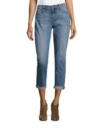 Eileen Fisher - Blue Organic Cotton Boyfriend Jeans - Lyst