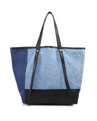 See By Chloé - Black Andy Denim Tote - Lyst