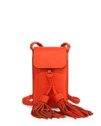 Rebecca Minkoff - Orange Isobel Leather Smartphone Crossbody Bag - Lyst