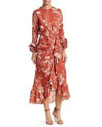 Johanna Ortiz - Red Botanical Gardens Ruffle Dress - Lyst
