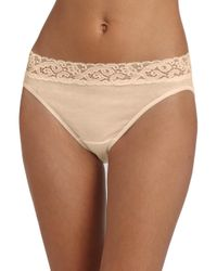 Hanro - Pink Moments Hi-cut Brief - Lyst