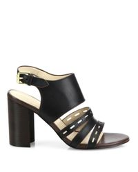 Cole Haan - Black Lavelle Leather Block Heel Slingbacks - Lyst