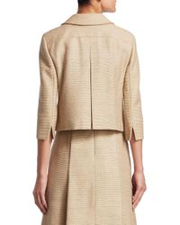 Akris Punto - Natural Silk Zip-front Jacket - Lyst