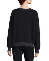 Wildfox - Black Quilted Sommers Sweatshirt - Lyst