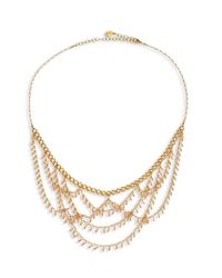 Chan Luu - Metallic Draped Bib Necklace - Lyst