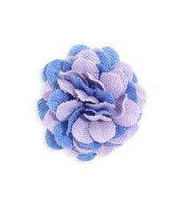Hook + Albert - Blue La Young Lapel Flower - Lyst