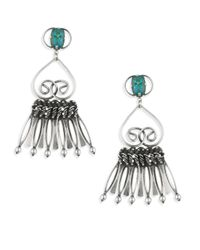 DANNIJO - Metallic Vert Crystal Fringe Drop Earrings - Lyst