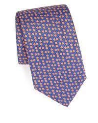 Charvet - Yellow Neat Silk Tie for Men - Lyst