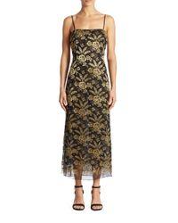 Adam Lippes | Metallic Embroidered Lace Tank Dress | Lyst