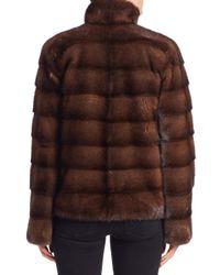 Michael Kors - Brown Horizontal Mink Fur Jacket - Lyst