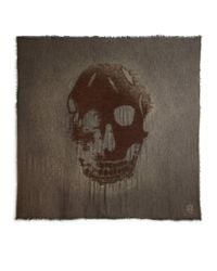 Alexander McQueen - Green Huge Skull Scarf for Men - Lyst