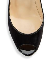 Christian Louboutin - Black Peep-toe Leather Pumps - Lyst