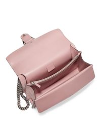 Gucci | Pink Small Crystal-embellished Suede Chain Shoulder Bag | Lyst