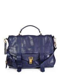 Proenza Schouler | Blue Ps1 Large Satchel | Lyst