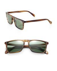 Oliver Peoples - Brown Bernardo Rectangle Sunglasses for Men - Lyst