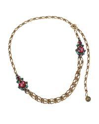 Lanvin - Metallic Crystal Chain Necklace - Lyst
