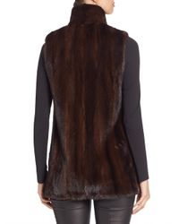 Saks Fifth Avenue - Multicolor Mink Fur Vest - Lyst