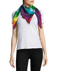 Gucci - Multicolor Crazy Tiger Silk Twill Scarf - Lyst