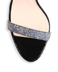 SJP by Sarah Jessica Parker - Metallic Giddy Glitter Ankle-strap Pumps - Lyst